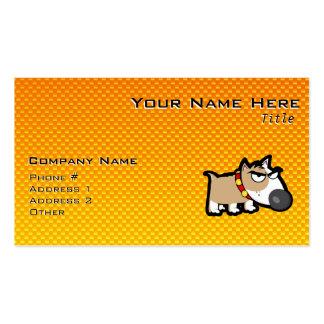 Yellow Orange Grumpy Dog Pack Of Standard Business Cards
