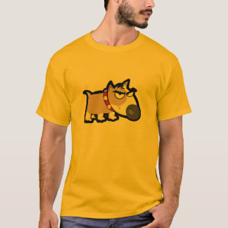 Yellow Orange Grumpy Dog T-Shirt