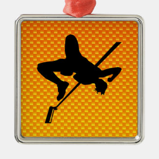 Yellow Orange High Jump Christmas Ornament