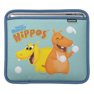 Yellow & Orange Hippo iPad Sleeves
