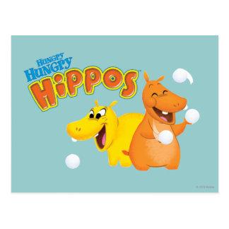 Yellow & Orange Hippo Postcard