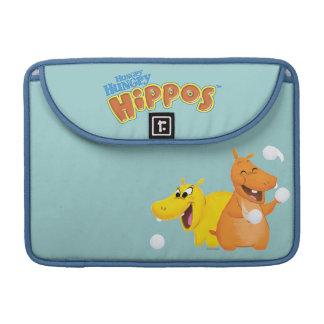 Yellow & Orange Hippo Sleeves For MacBook Pro