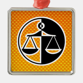 Yellow Orange Justice Scales Christmas Ornament