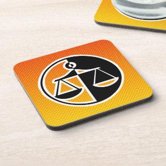 Yellow Orange Justice Scales Coaster