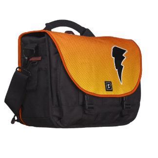 Yellow Orange Lightning Bolt Commuter Bag