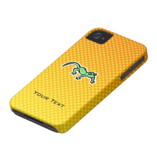 Yellow Orange Lizard iPhone 4 Case