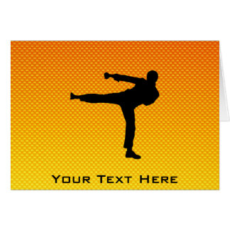 Yellow Orange Martial Arts Greeting Card