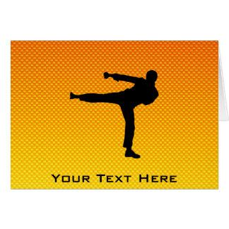 Yellow Orange Martial Arts Greeting Cards