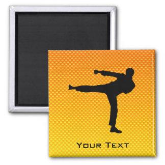 Yellow Orange Martial Arts Magnet