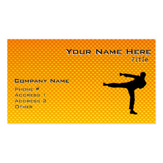 Yellow Orange Martial Arts Pack Of Standard Business Cards