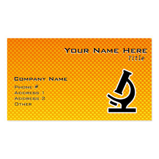 Yellow Orange Microscope Double-Sided Standard Business Cards (Pack Of 100)