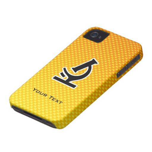 Yellow Orange Microscope Case-Mate iPhone 4 Cases