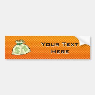Yellow Orange Money Bags Bumper Sticker