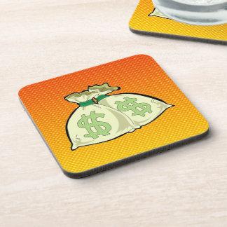 Yellow Orange Money Bags Coaster