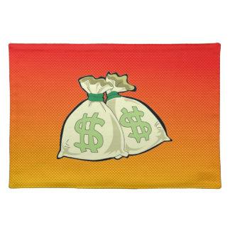 Yellow Orange Money Bags Place Mats