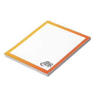 Yellow Orange Mouse Notepad