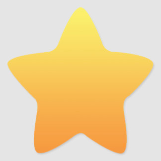 Yellow & Orange Ombre Star Sticker