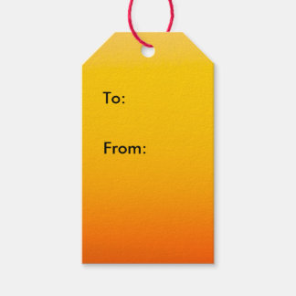 Yellow Orange Ombre Sunset 1 Gift Tags