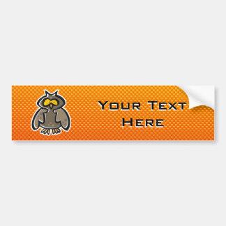 Yellow Orange Owl Bumper Sticker