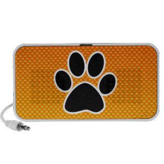 Yellow Orange Paw Print PC Speakers