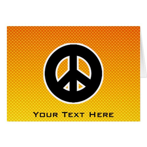 Yellow Orange Peace Sign Cards