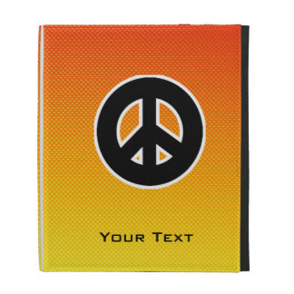 Yellow Orange Peace Sign iPad Folio Covers