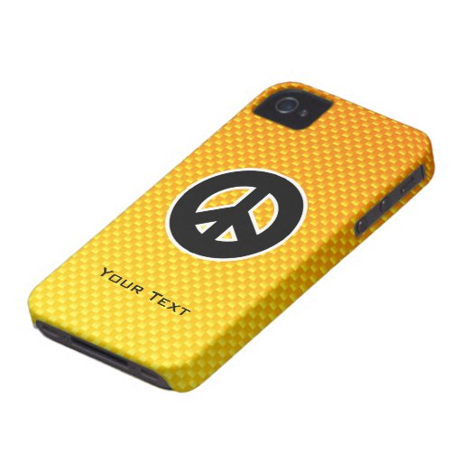 Yellow Orange Peace Sign Case-Mate iPhone 4 Case