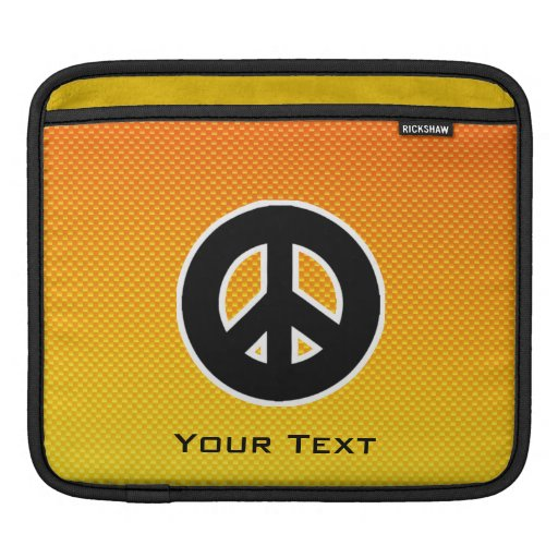 Yellow Orange Peace Sign Sleeve For iPads