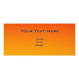 Yellow Orange Peace Sign Rack Card Design