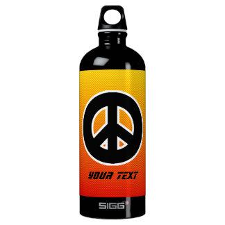 Yellow Orange Peace Sign SIGG Traveller 1.0L Water Bottle