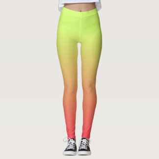 Yellow, Orange, Pink Leggings