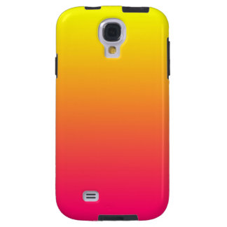 Yellow Orange Pink Ombre Galaxy S4 Case