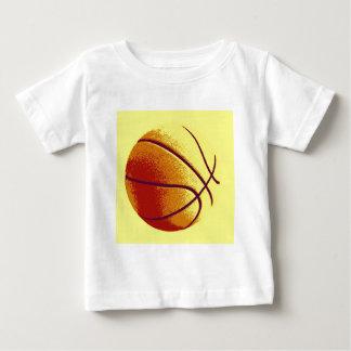 Yellow Orange Pop Art Basketball Baby T-Shirt