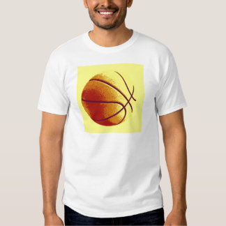 Yellow Orange Pop Art Basketball T-shirt