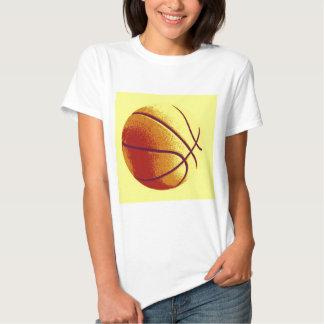 Yellow Orange Pop Art Basketball Tshirts