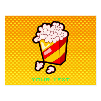 Yellow Orange Popcorn Postcard