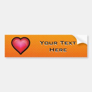 Yellow Orange Red Heart Bumper Sticker