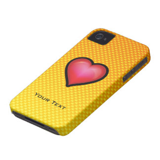 Yellow Orange Red Heart iPhone 4 Covers