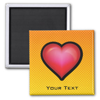 Yellow Orange Red Heart Square Magnet
