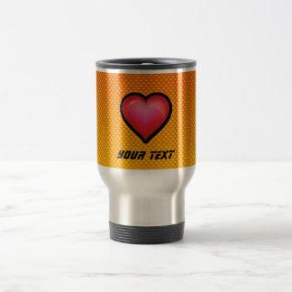 Yellow Orange Red Heart Travel Mug