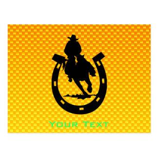 Yellow Orange Rodeo Postcard