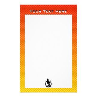 Yellow Orange Rodeo Personalized Stationery