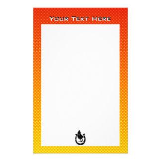 Yellow Orange Rodeo Personalized Stationery