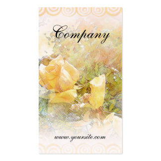 Yellow Orange Rose and Trim Business Card