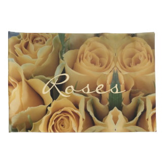 Yellow Orange Roses Flower Rose Floral Romantic Pillowcase