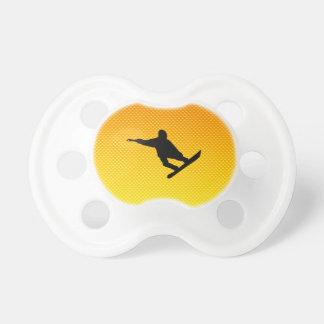Yellow Orange Snowboarding Pacifiers
