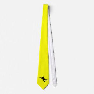 Yellow Orange Snowboarding Tie