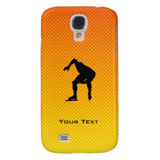 Yellow Orange Speed Skater Galaxy S4 Covers