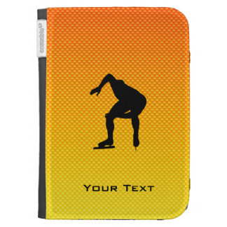 Yellow Orange Speed Skater Kindle Folio Cases