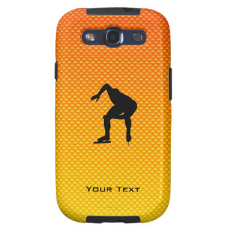 Yellow Orange Speed Skater Galaxy S3 Cover